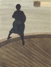 femme de pêcheur sur un ponton by léon spilliaert