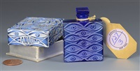 les yeux bleus, canarina perfume bottle by rené lalique