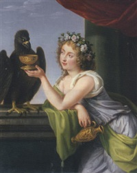 portrait of a lady as hebe by ludwig guttenbrunn