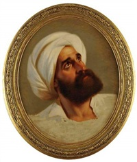 portrait d'un dignitaire arabe by paul emil jacobs