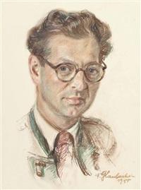 porträt des schriftstellers josef viktor stummer by franz glaubacker