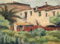 paisaje con casas by josé maría labrador arjona