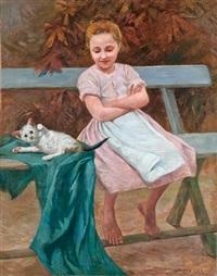 lány cicával by géza peske