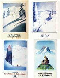 savoie et jura et parc national de la vanoise/ ecole militaire de haute montagne (4 works) by samivel