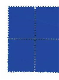 suite de quatre timbres bleus by yves klein