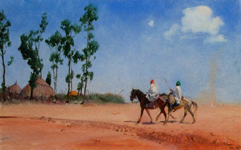 the return to the village ethiopia near ankober by terence cuneo