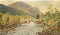 invercauld brig and lochnager by george melvin rennie