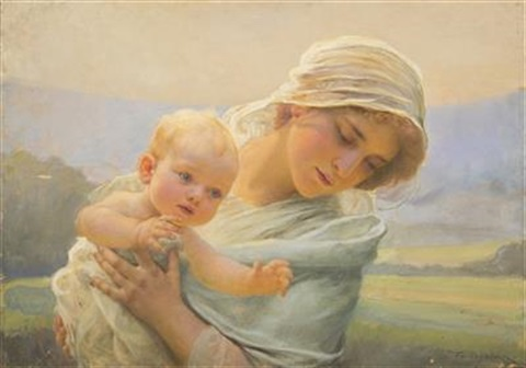 mother with a child by frantisek dvorak