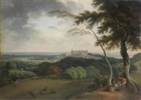 a view of windsor and eton from st. leonard's by joseph constantine stadler