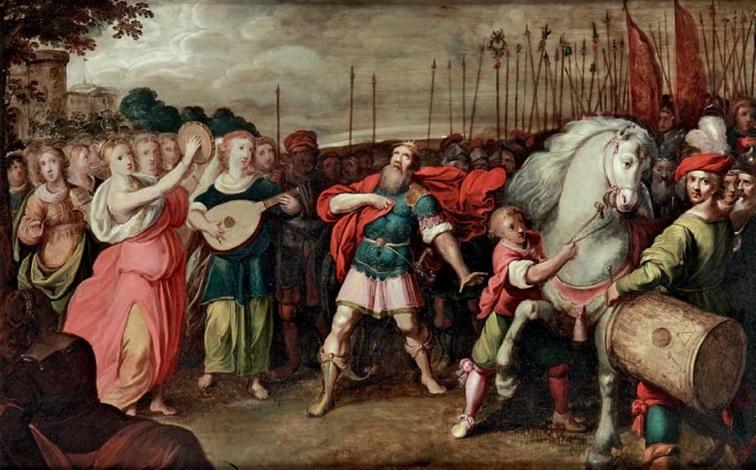 le général victorieux jephté rencontre sa fille by hieronymus francken iii