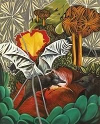 creation of the bat by rodel tapaya
