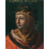 portrait of the author and poet giovanni boccaccio by cristofano di papi dell' altissimo