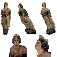 "ship's figurehead from the bark ""edinburgh"" by john rogerson"
