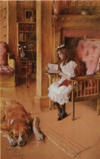 cynthia reading by rosina emmet sherwood