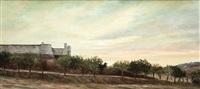 vista del castillo de chinchón by ana allendesalazar