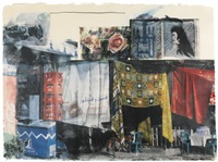 appointment; and vamp; (2 works from marrakitch) by robert rauschenberg