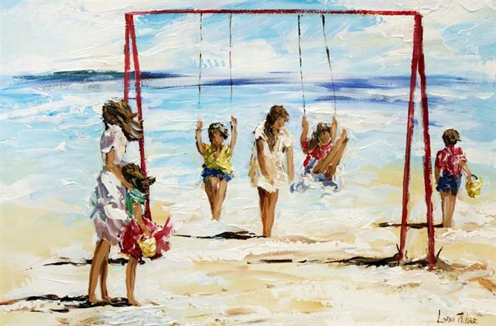 beach swings by lorna miller