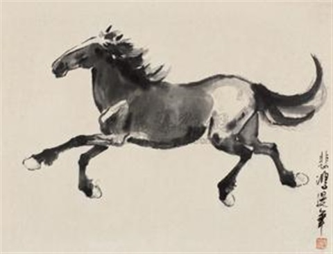 奔马 galloping horse by xu beihong