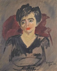 portrait of a lady by david bomberg