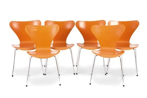 series 7 chairs set of 6 by arne jacobsen