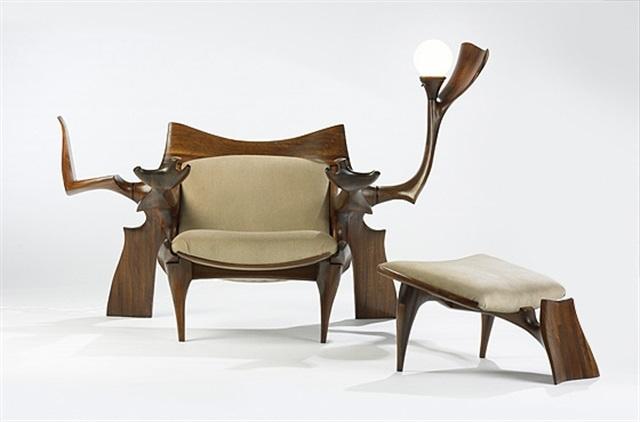 Custom Lounge Chair And Ottoman By Jack Rogers Hopkins