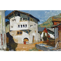coin de village (tourtemagne) by edmond bille