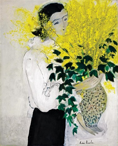 le bouquet de forsythia by andré brasilier
