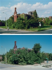 former ransom gillis mansion, corner of alfred and john r. st., detroit (2 works) by camilo josé vergara