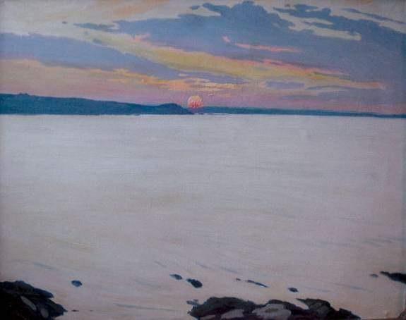 coucher de soleil by charles victor guilloux
