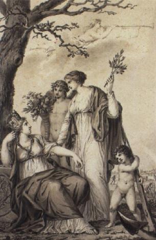 allegorische darstellung auf den frieden von lunéville by friedrich georg weitsch