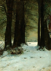 the lane of trees behind castle maurick in vught by frans slager