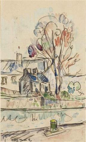 maisons prés dun canal by paul signac