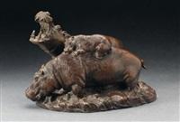 a family of hippopotamus by otto jarl