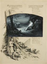 illustration zum lied pásli ovce valaši by adolf liebscher