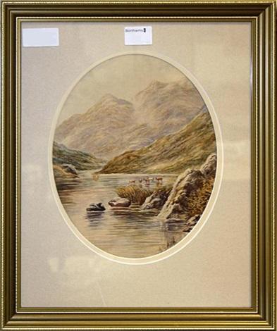 scottish views (pair) by albert edward ash