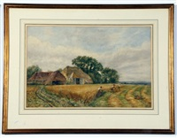 harvest scene by arthur james stark