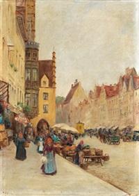 alter markt in augsburg by richard lipps