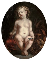 hommo bulla est, a vanitas still life with a boy by jürgen ovens