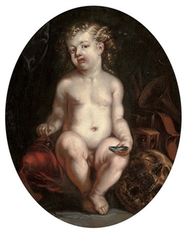 hommo bulla est a vanitas still life with a boy by jürgen ovens