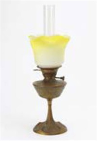 oil lamp by georges leleu