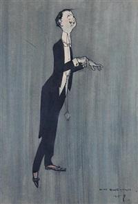 portrait of a man in a tuxedo by henry mayo bateman