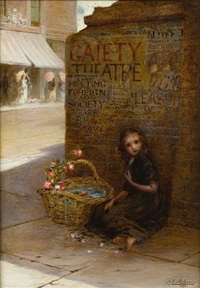 the flower girl by augustus edwin mulready