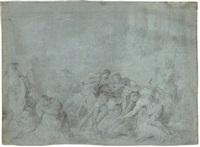 le massacre des innocents (recto) et pastorale (verso) by françois lemoyne