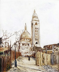 paris, montmartre et le sacré-coeur by marcel françois leprin