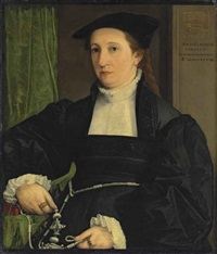 portrait of barbara schwarz, half-length by christoph amberger