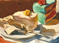 still-life with cake by tibor csernus