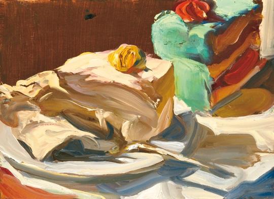 still life with cake by tibor csernus