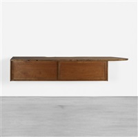 hanging wall cabinet by george nakashima