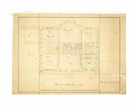 designs for wormleybury manor, hertfordshire (5, 1 illustrated; and designs for a country house for major hamilton, near glasgow (7) (12 works) by robert mylne the younger