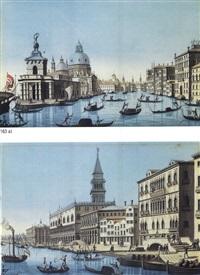 canal grande con la punta della dogana (+ venezia, riva degli schiavoni) by luigi bugatto